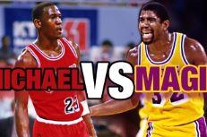 Il y a 32 ans Michael Jordan et Magic Johnson s'affrontaient pour la première fois