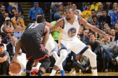 Les highlights du duel James Harden (29pts, 15 rbds, 13 asts) – Kevin Durant (39 pts, 13 rbds)